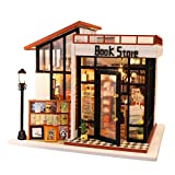 Hualieli Casa de muñecas, Modelo en Miniatura, Kit de casa de Bricolaje, Sala Creativa con Muebles, Kit de casa de muñecas más a Prueba de Polvo y Movimiento Musical