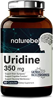 NatureBell Uridine Monophosphate, Choline Enhancer, 350mg, 60 Capsules, Nootropics for Energy, Brain Health and Memory Sup...