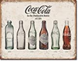 The Finest Website Inc. New Coca Cola Coke Bottle Evolution 40,6 cm x 31,5 cm (D1839) Vintage Apariencia Publicidad Cartel