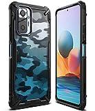 Ringke Fusion-X Compatible con Funda Xiaomi Redmi Note 10 Pro (6,67 Pulgadas), Compatible con Funda Redmi Note 10 Pro MAX, Militar Rigida Carcasa Parachoque TPU Funda Negra - Camo Black (Camuflaje)