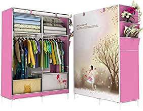 Portable Wardrobe Organizer S Curtain Cover With 3d Print