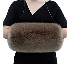 Faux Fur Hand Muffs Frauen Faux Pelz Muffs Kunstfell-Muffs Frauen Kunstfell Hand Muff Handw/ärmer