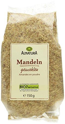 Alnatura Bio Mandeln, geröstet und gemahlen, 150 g