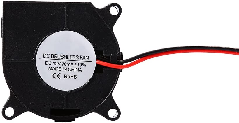 bizofft Cooling Fan, Plastic Low-Noise Lightweight Printer Accessories, for Computers 3D Printers