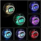 Reloj que cambia de color luz LED con sonidos de la naturaleza multifuncional relojes de alarma por superjune