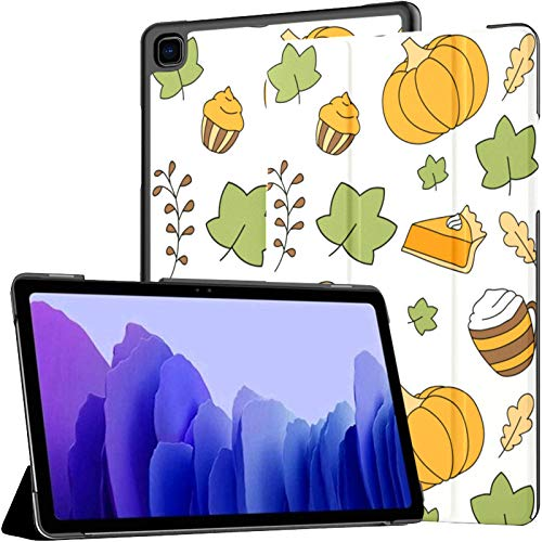 Samsung A7 Tablet Case Cute Autumn Pattern Pumpkin Falling Case For Samsung Galaxy Tab A7 10.4 Inch 2020 Release Protective Case Samsung Galaxy A7 Case Cover Tablet Pu Leather Case
