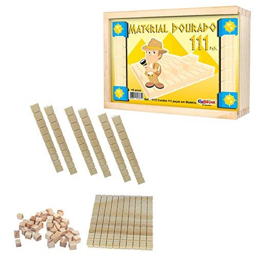 Material Dourado Individual 111 Peças em Madeira Ciabrink