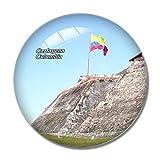 Imán para nevera 3D de Colombia de Cartagena Castle de Cartagena para pizarra, cristal de recuerdo