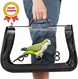 Colorday Lightweight Bird Carrier, Bird Travel cage Parrot (Medium 16 x 9 x 11, Red) Patent Pending