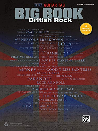 The New Guitar Big Book of Hits -- British Rock: 52 Favorites from the U.K. (Guitar Tab) (New Guitar Tab Big Book)