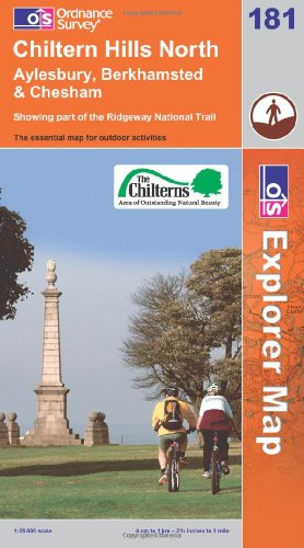 OS Explorer map 181 : Chiltern Hills North