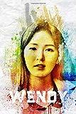 Wendy: Red Velvet Member Color Splatter Art 100 Page 6 x 9' Blank Lined Notebook Kpop ReVeluv Merch Journal Book (Red Velvet Member Color Splatter Art Notebooks)