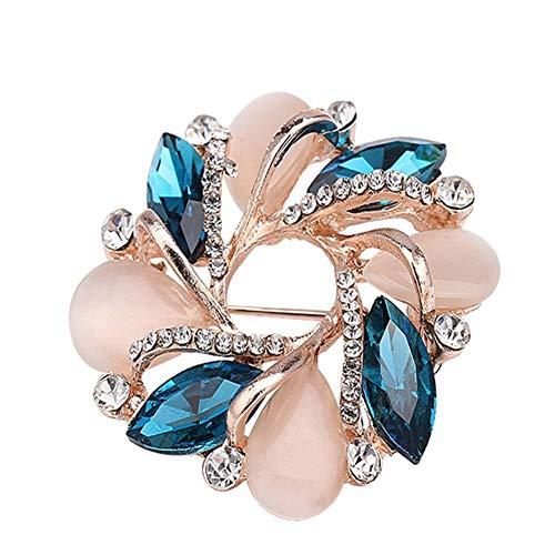 AdorabFruit Broche de oro rosa de la serie Opal Pin de moda Rhinestone Badge Pin Broches Broches Broche Niñas