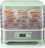 SHKUU Deshidratador Alimentos Secador Alimentos Máquina Frutas secas Carne casera Verduras Fruta Deshidratador Secado al Aire del Quinto Piso