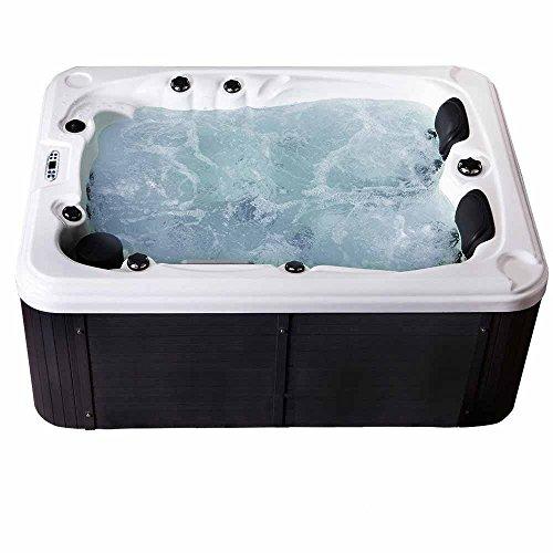 Home Deluxe - Whirlpool Outdoor für 2 - 3 Personen - Beach Pure - 51 Massagedüsen - Maße: 210 x 155 x 83 cm I Jacuzzi, Außen Whirlpool
