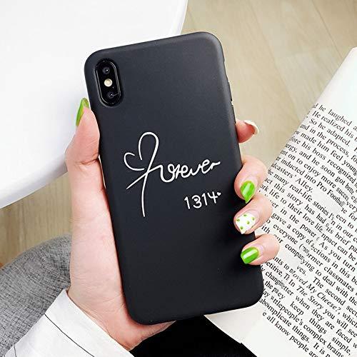 JJYUY telefoonhoes voor iPhone 7 8 6 6s Plus x xs xr xs max zachte TPU silicone telefoonhoesjes liefde hart afdekking aan de achterkant, For iPhone 8, 1