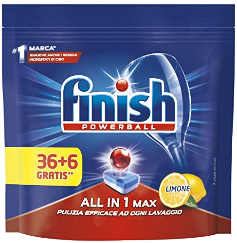 FINISH All In One Max 36 Regular + 6 Lave-Vaisselle Détergents