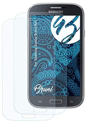 Bruni Schutzfolie kompatibel mit Samsung Galaxy Grand Neo Folie, glasklare Bildschirmschutzfolie (2X)