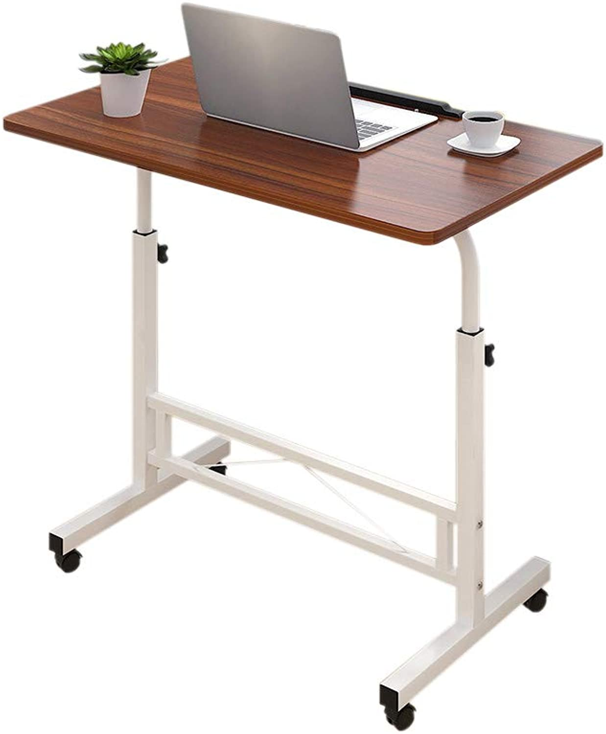 Bedside it Can Move Laptop Table Height Adjustable Computer Desk Sofa Side TK (color   A)