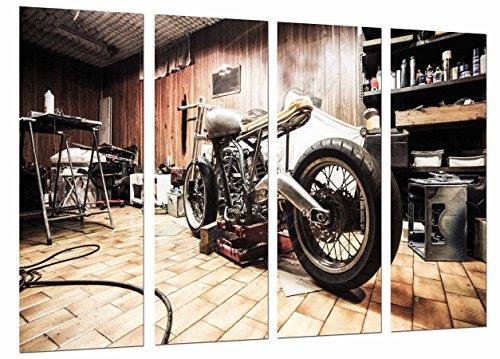 Cuadros Cámara Poster Fotográfico Moto Vintage, Moto Harley Davidson, Multicolor, 131 x 62 cm XXL