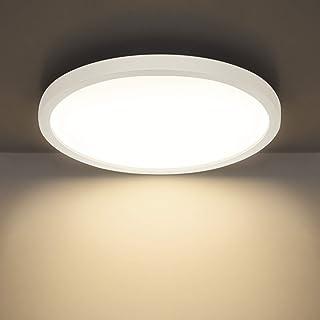 Combuh Plafón LED 24W 2160Lm Fácil de Instalar Modernos Lampara de Techo para Dormitorios Salones Cocina Blanco Natural 4500K Redondo Ø23CM