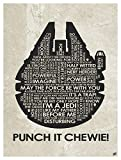Punch It Chewie! Giclee Art Print Poster from Typography Drawing by Pop Artist Stephen P. 9' x 12'