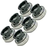HD Switch (6 Pack Deck Spindle Bearings Replaces Exmark 1-513016 513016 Husqvarna, Dixon 539115279 539102677 1701 CSA205-16 JD8597 Bearing - Free HIGH Temp Grease Upgrade & C3 Thermal Clearances