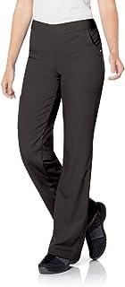 Urbane Women's Silky Soft Stretch & Comfortable 3-Pocket Cargo Scrub Pant, Black, Small Petite