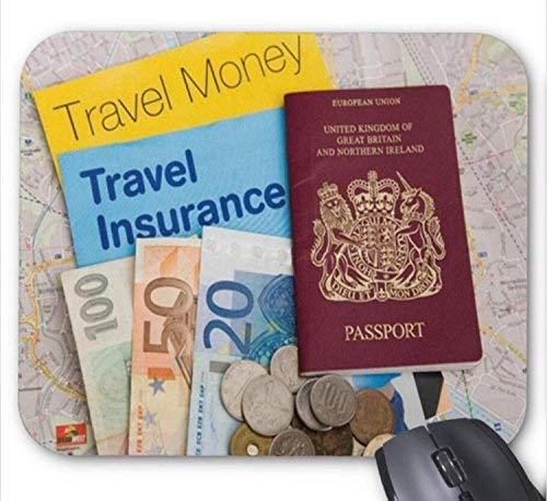 N\A Libro de Viaje de Dinero y Seguro con Pasaporte y Alfombrilla de ratón con patrón de Dinero