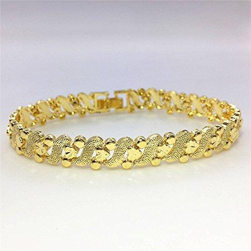 Pure messing vergulde sieraden mode goud glinsterende dames horloge ketting simulatie gouden sieraden