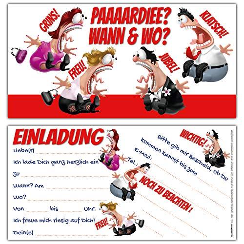 12er Set KOLLEGEN Einladungskarten - edle & witzige Einladungen zum Geburtstag für Erwachsene Mädchen Jungen Kindergeburtstag Party von BREITENWERK