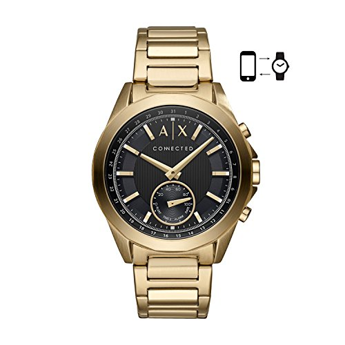 Armani Exchange Smartwatch Híbrido para Hombre de Connected con Correa en Acero Inoxidable AXT1008