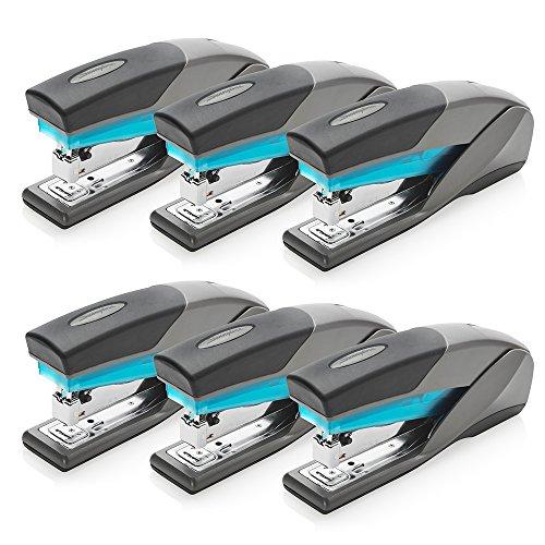 Swingline Stapler, Optima 25, Full Size Desktop Stapler, 25 Sheet Capacity, Reduced Effort, Blue/Gray, 6 Pack (S7066404CS)
