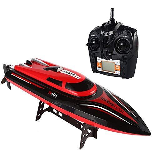 MOGOI Ferngesteuerte Boote für Pools und Seen, RC-Boote für Kinder & Erwachsene 30 km/h 180-Grad-Hochgeschwindigkeits-RC-Rennboot, selbstaufrichtend, ferngesteuertes Boot