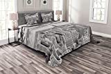 """1 King Bedspread 104"""" X 88"""" + 2 Shams 36"""" X 20"""". Oversized - Great coverage along the sides of bed. Made from - Double brushed high density soft spun polyester for optimal softness & ultimate comfort. Heavyweight - Won't fall off bed easily. Can be u..."""