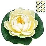 SALUTUYA Paisajismo de Acuario 6 Piezas Mini Flores de plástico para Tanques de Peces 50g / 1.8oz EVA + Plástico