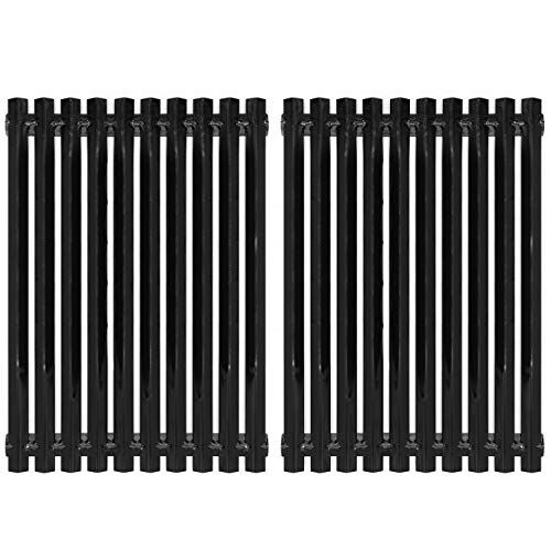 VICOOL 17 3/16 inch Porcelain Steel Cooking Grates Replacement Parts for Sunbeam, Grill Master 720-0697, Nexgrill 720-0697E, Uniflame GBC091W Gas Grill Models, Grill Cooking Grid, Set of 2, hyG981B