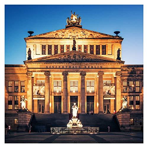 Berligram - Fine Art Fotografie aus Berlin, Konzerthaus am Gendarmenmarkt, Foto auf Holz, 10x10cm