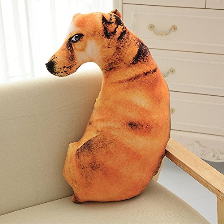 DONGER Niedliche Simulation Hund Lustige Puppe Puppe Mdchen Schlafen Spielzeug Mdchen 3D Kissen Puppe Meng, Boden Hund, 90 cm