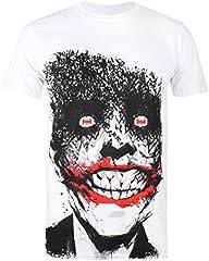 DC Comics Joker Eyes Camiseta Blanco