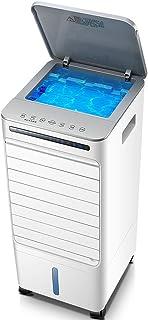 Bärbar luftkylare med fjärrkontroll, liten luftkonditionering vitt toppvatten, fläkt, luftfuktare och luftrenare lägger ti...