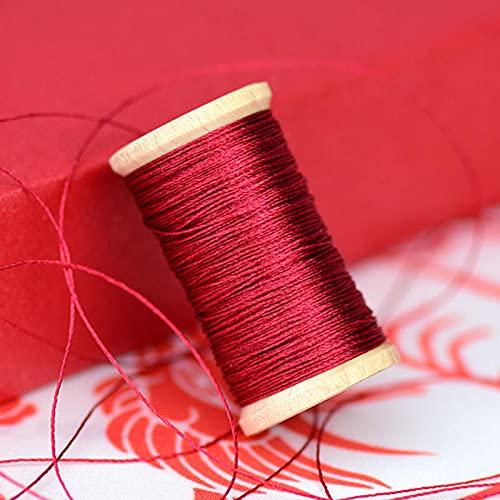 Hilo de bordar tejido a mano de alambre trenzado línea de fibra de poliamida Rollo de 0,3 mm Línea de borlas de 50 m de alta resistencia 3 hilos de hilo-2
