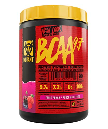 MUTANT BCAA 9.7 Supplement BCAA Powder with Micronized Amino Acid and Electrolyte Support Stack, 1044g (2.30 lb) - Fruit Punch