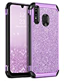 BENTOBEN Samsung Galaxy A20 Case, Galaxy A30 Case, Galaxy A50 Case, 2 in 1 Slim Glitter Sparkle Bling Hard PC Soft TPU Shockproof Anti Scratch Girl Women Cover for Samsung Galaxy A20/A30/A50, Purple