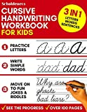 Cursive Handwriting Workbook for Kids: 3-in-1 Writing Practice Book to Master Letters, Wor...