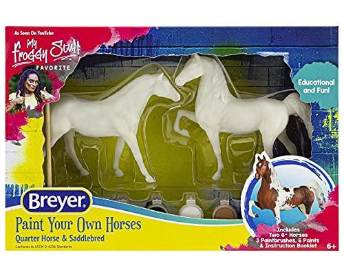 Breyer Horses Paint Your Own Horse - Quarter Horse & Saddlebred Paint & Play   2 Horse Set   Model #4260