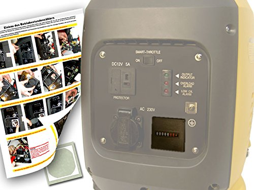 Betriebsstundenzähler für Stromerzeuger/Generatoren - digital- für Kipor, FME, Atima etc, Caravaning, Camping, Wohnmobil, Boot, Baustelle, Event, Festival