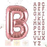 Hivexagon Palloncini a Forma di Lettere e Numeri da 32 Pollici Adatti per Feste Compleanni e Matrimoni (Oro Rosato) HP013