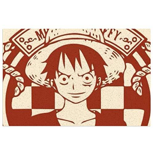 Anime ONE PIECE Monkey D. Luffy PVC se puede lavar antideslizante, resistente al desgaste, duradero y limpio elimina el polvo, apto para interiores y exteriores.