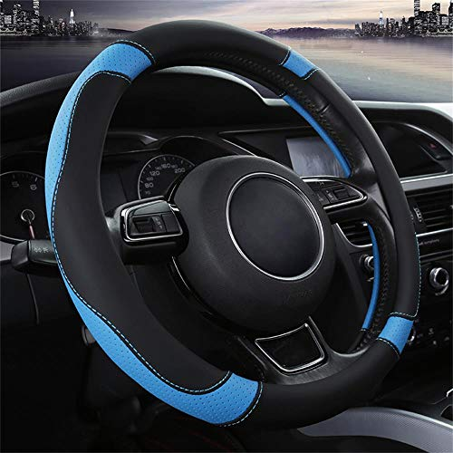OFZVEO Coprivolante per Auto Protezione Custodia Volante Cover in Pelle Microfibra Universale 37-38cm   15  Antiscivolo Traspirante Durevole (Blu)